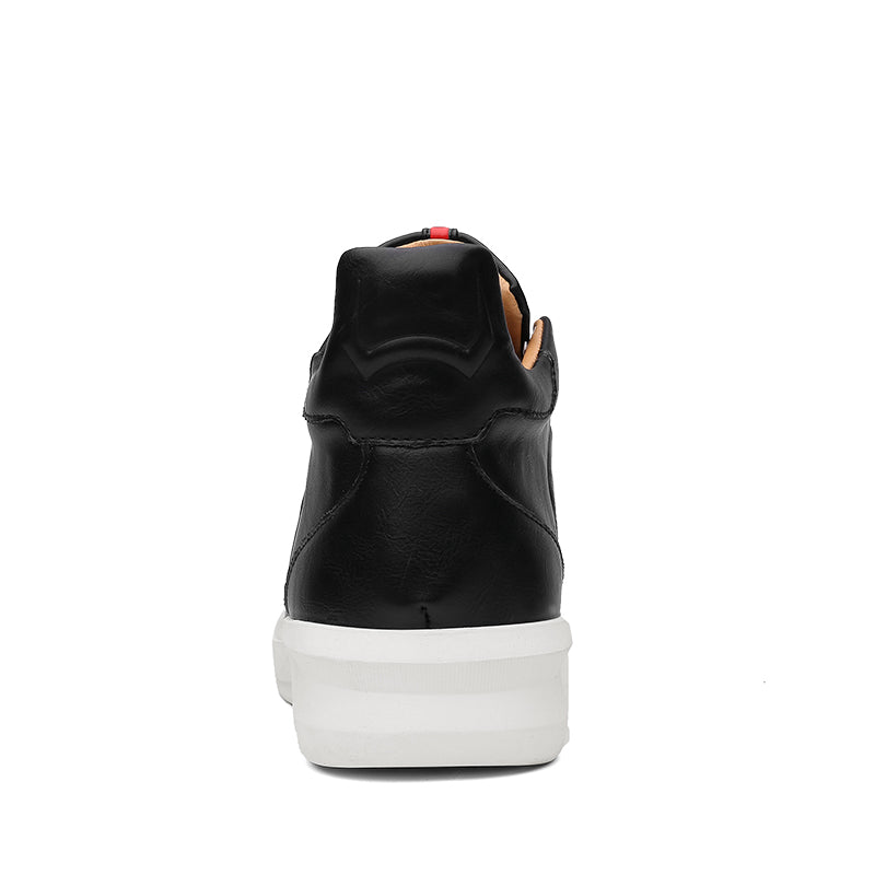 Modern High-Top Sneaker Black Back