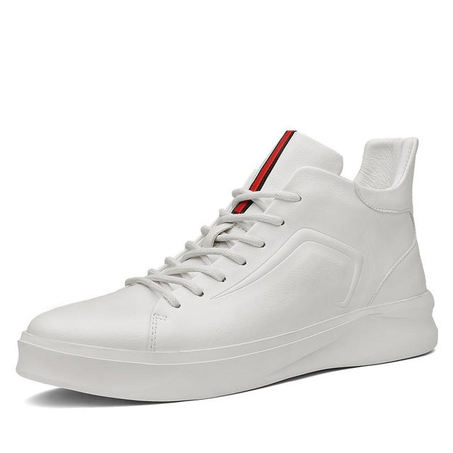 Modern High-Top Sneaker White
