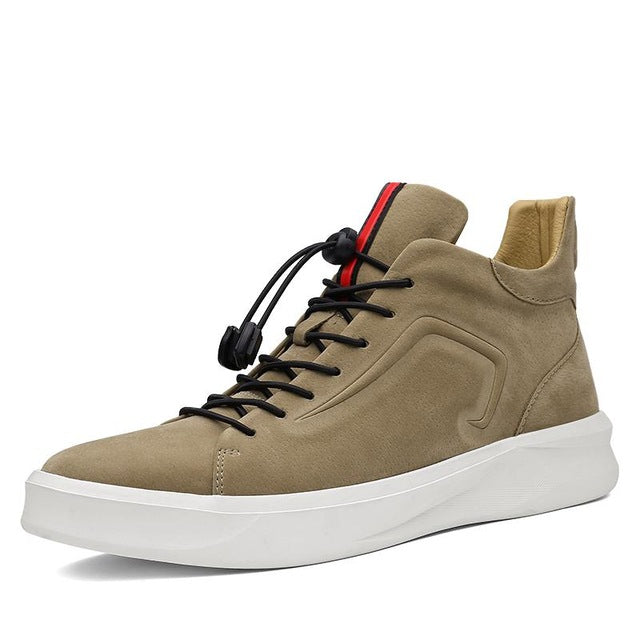 Modern High-Top Sneaker Beige Toggle