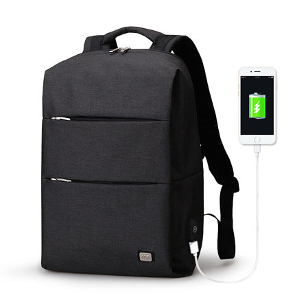 Modern Backpack With USB Charging Port Black