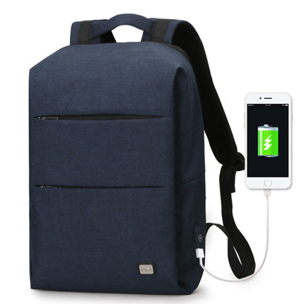 Modern Backpack With USB Charging Port Blue