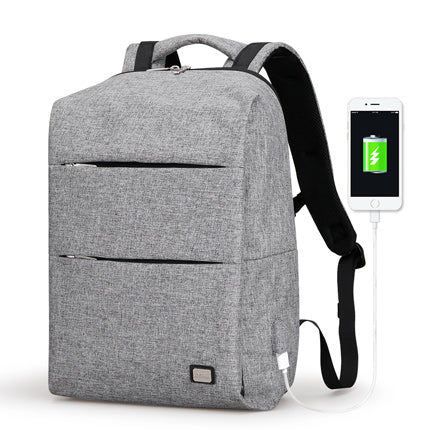 Modern Backpack With USB Charging Port Grey