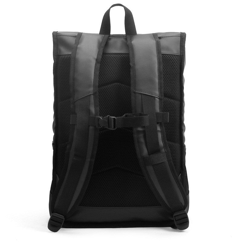 Waterproof Backpack Black Rear With Shoulder Straps