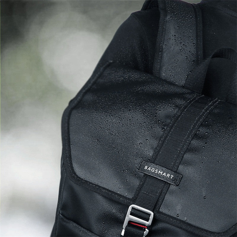 Waterproof Backpack Black Clasp Detail