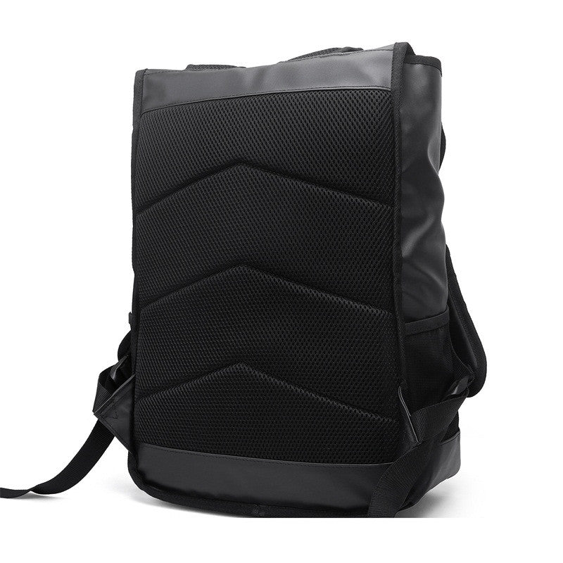 Waterproof Backpack Black Rear Padded Back