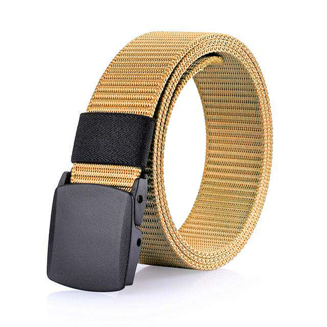 3.8cm Men's Nylon Belt Khaki