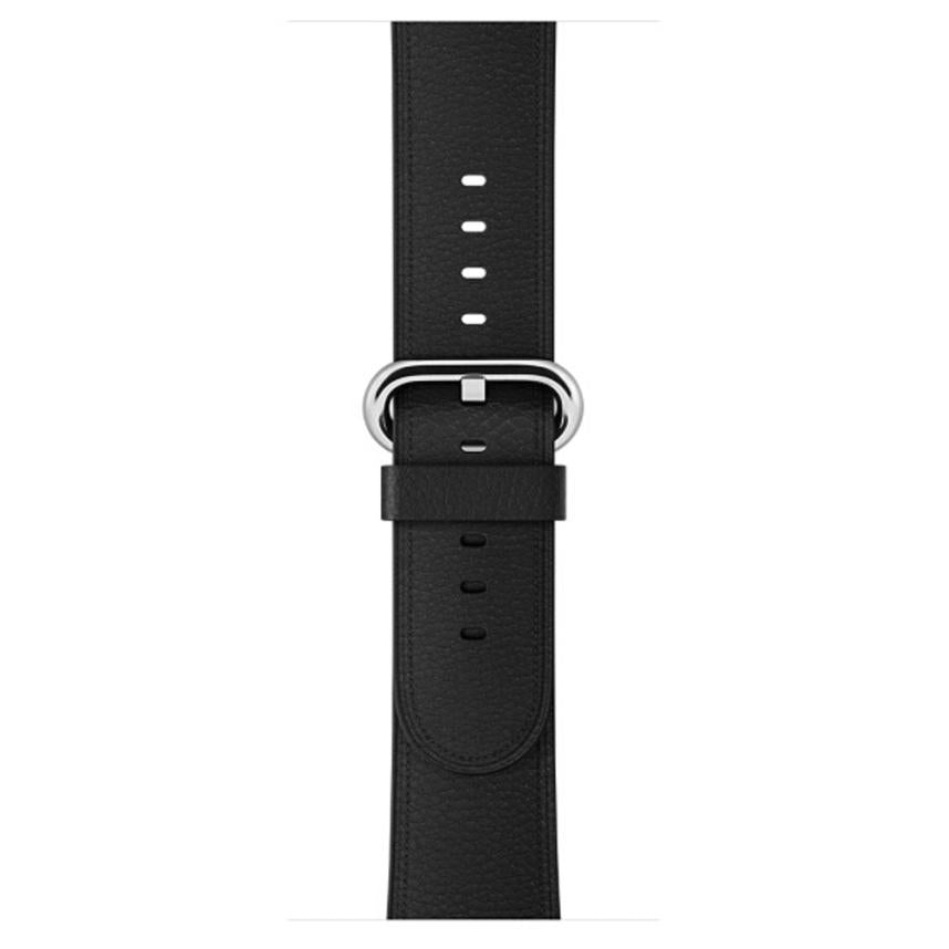 Leather Watch Band for Apple Watch, 38MM Black Band