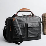 Rubberized Canvas Briefcase With Shoulder Strap
