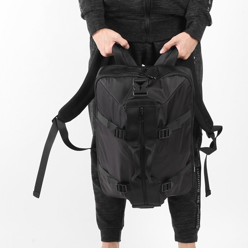 Large Capacity Canvas Backpack Black
