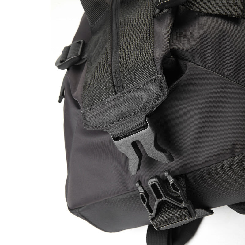 Large Capacity Canvas Backpack Black adjustable straps