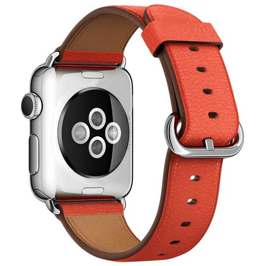 Leather Watch Band for Apple Watch, 38MM Red