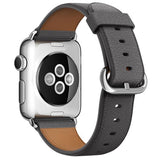 Leather Watch Band for Apple Watch, 38MM Grey