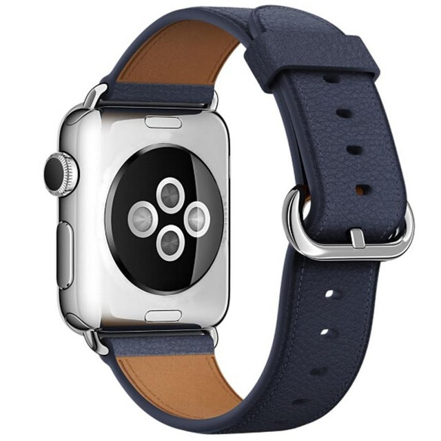 Leather Watch Band for Apple Watch, 38MM Blue