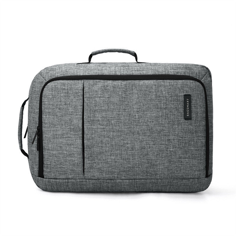 2-In-1 Convertible Travel Briefcase/Backpack Grey Briefcase View