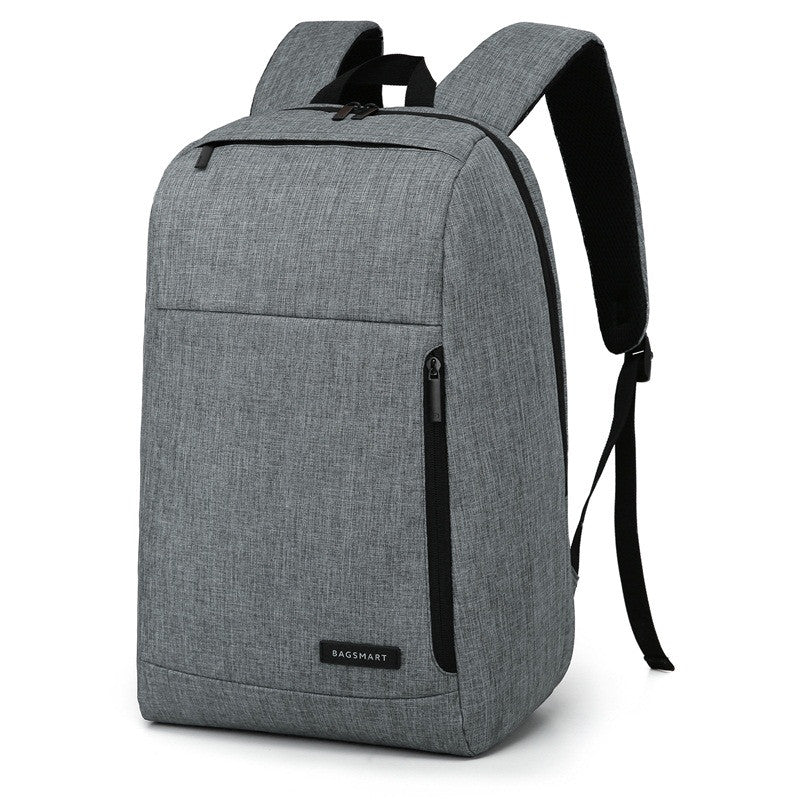 Slim Water Resistant Backpack Grey Angle