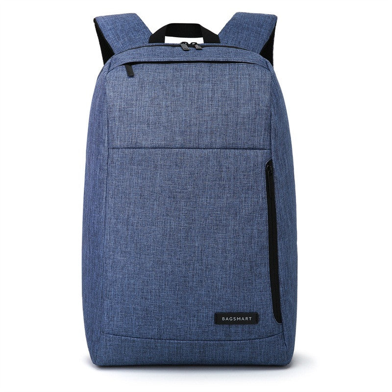 Slim Water Resistant Backpack Blue Front