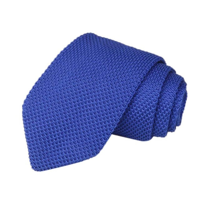 Men's Classic Knit Tie Blue