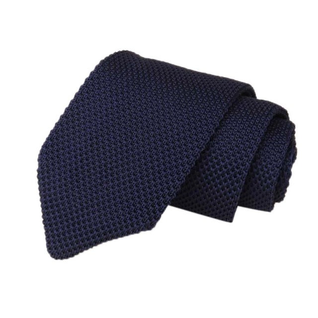 Men's Classic Knit Tie Navy