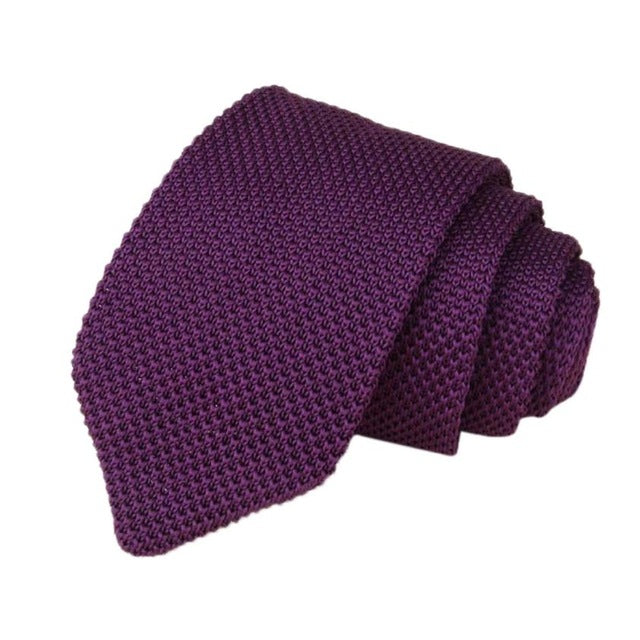 Men's Classic Knit Tie Purple