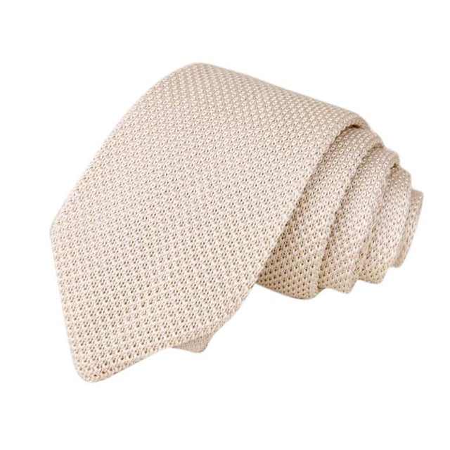 Men's Classic Knit Tie Off White