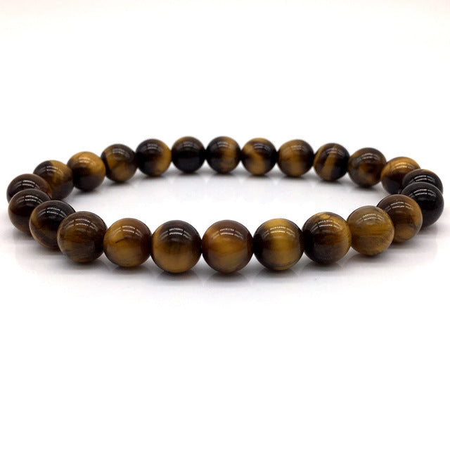 Brown Stone Bead Bracelet