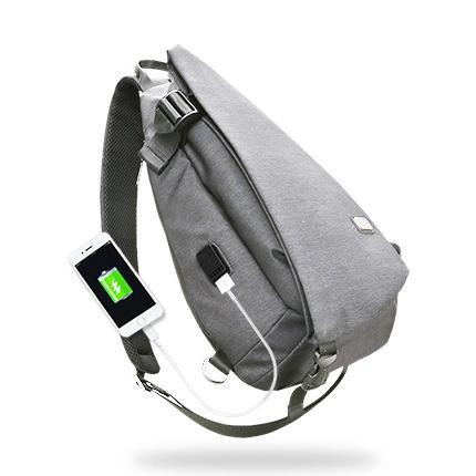 MARK RYDEN 2018 MODERN DESIGN SLING WITH USB PORT GREY THUMB PICTURE