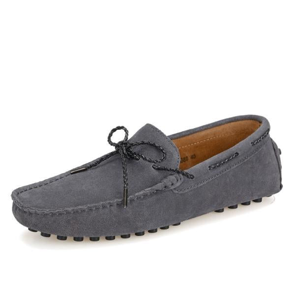 TIE SUEDE LOAFERS