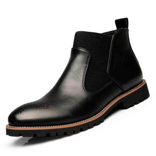 CHELSEA BOOTS WITH ELASTIC DETAIL