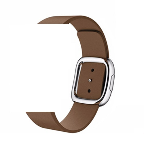 MODERN GENUINE LEATHER WATCH BAND FOR APPLE WATCH 38MM TO 44MM