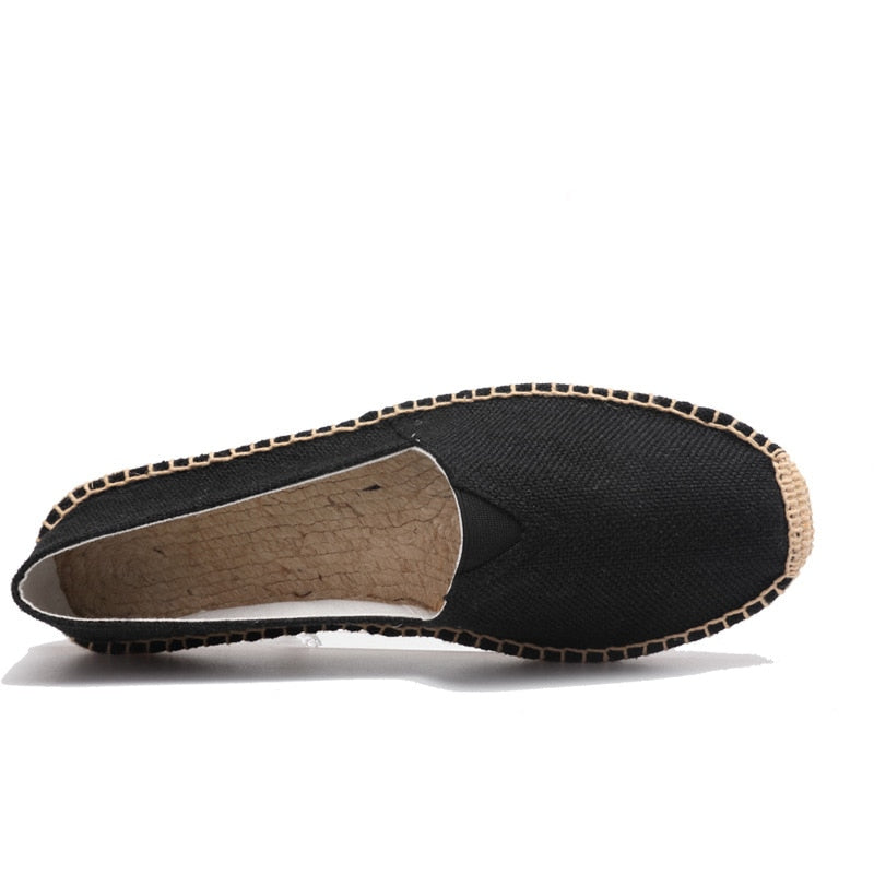 men's basic espadrilles black side view thumb