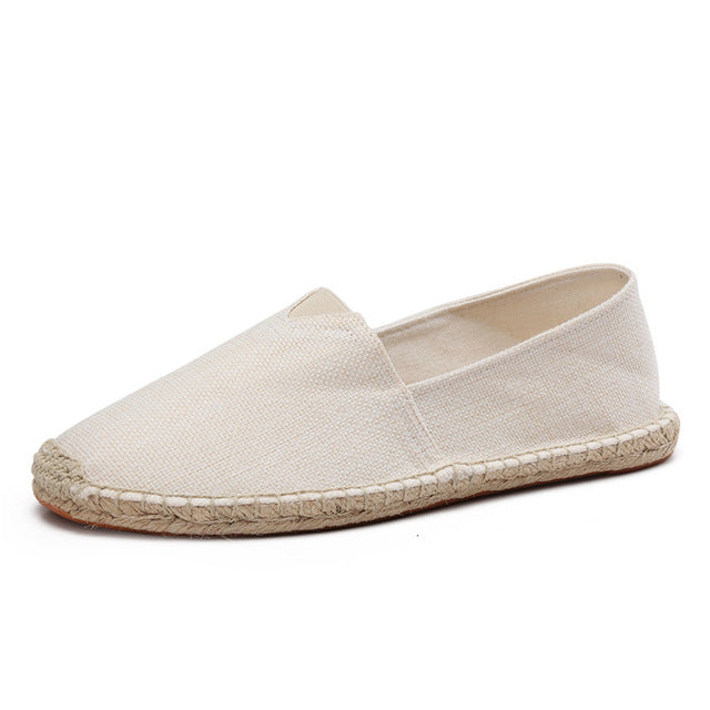 men's basic espadrilles beige single shoe thumb