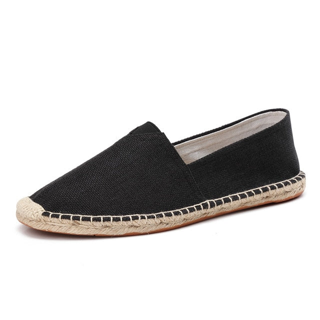 men's basic espadrilles black single shoe thumb