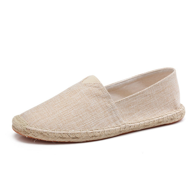 men's basic espadrilles khaki single shoe thumb