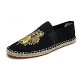 tiger canvas slip-on espadrille Black/gold