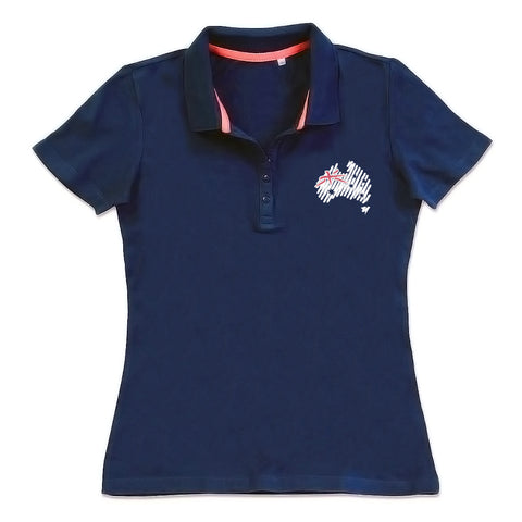 Women's Navy Polo T-Shirt