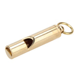 Solid brass Emergency Whistle Keyring EDC