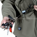 Steel cordl Retractable Keyring EDC