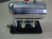 Mini Steam Engine Boiler Cylinder Unibody Design