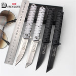 Folding Thin Tanto Style 5CR13MOV Steel Blade Small Sharp Knives