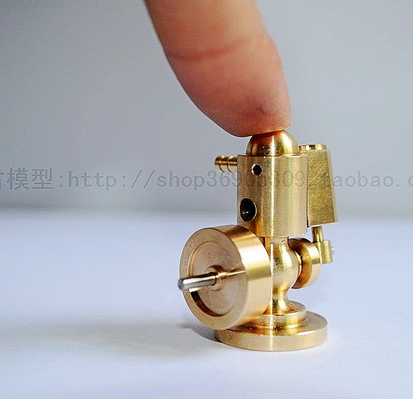 Mini Brass Single Cylinder Steam Engine model including optional boiler