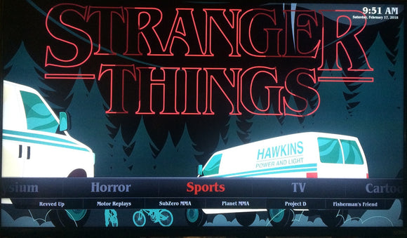 'Stranger Things'  Fire Stick With Kodi 17.6