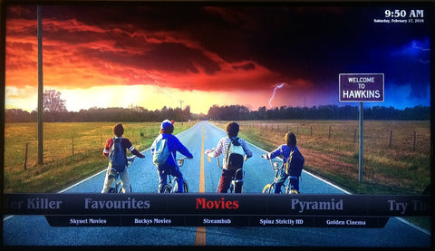 Stranger Things Jailbroken Amazon Fire Stick Fully loaded with Kodi 17.6 Mobdro Terrarium TV Alexa voice remote