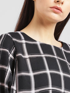Elasticated Waist Check Top
