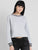 Crop Sweatshirt With Contrast Rib