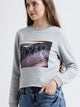 Digital Print  Crop Sweatshirt