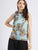 Digital Print  Neck Tie Knot Top