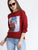 Elasticated Cuff Digital Print Sweatshirt