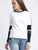 Colorblocked Rib Detailed Sweatshirt