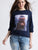 Elasticated Cuffs Digital Print  Sweatshirt