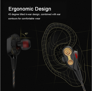 Wired Earphone For Phone Dual Driver Stereo In-Ear